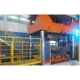 prensa para fechamento de moldes
